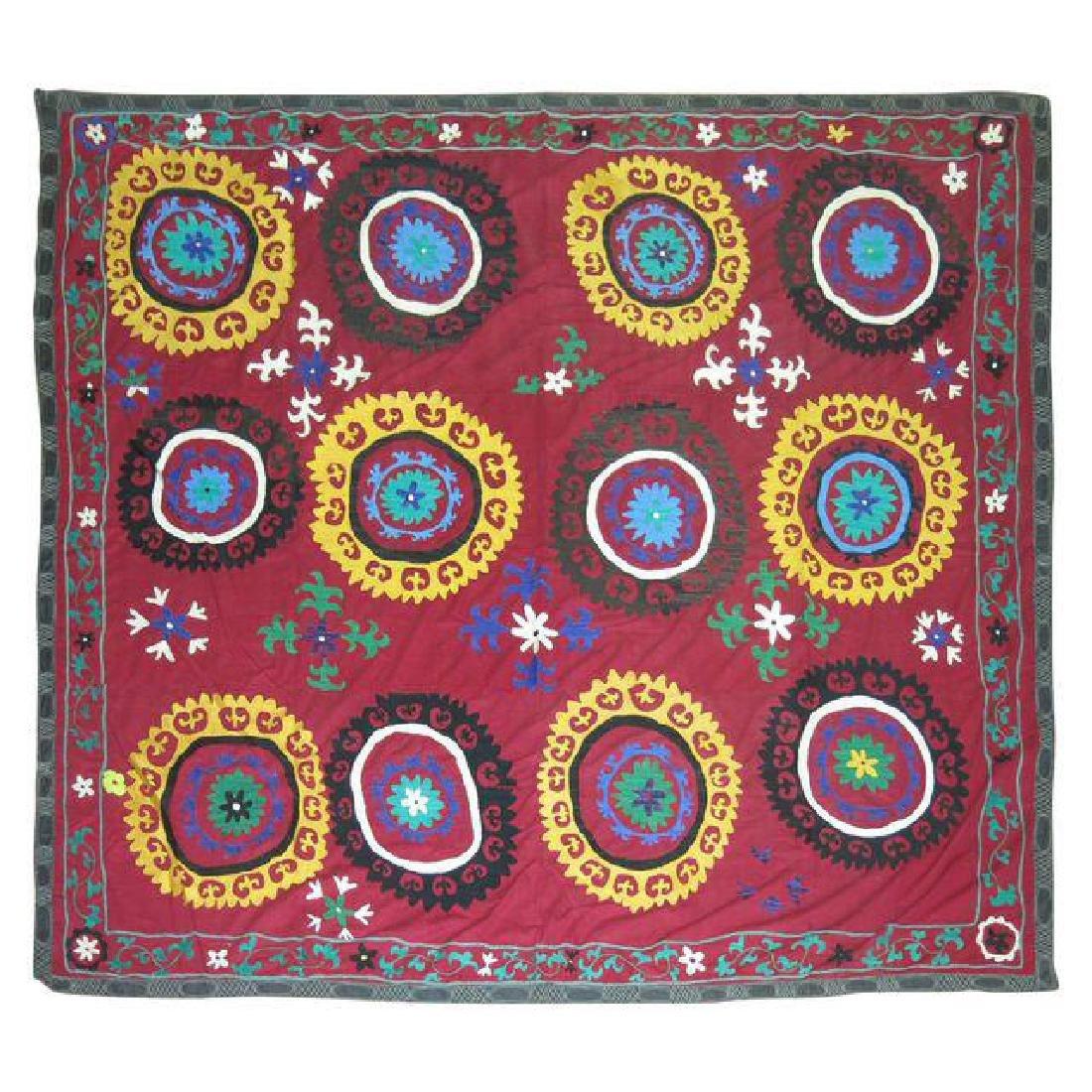 Vintage Suzanni Embroidery Throw 6.10x7.5