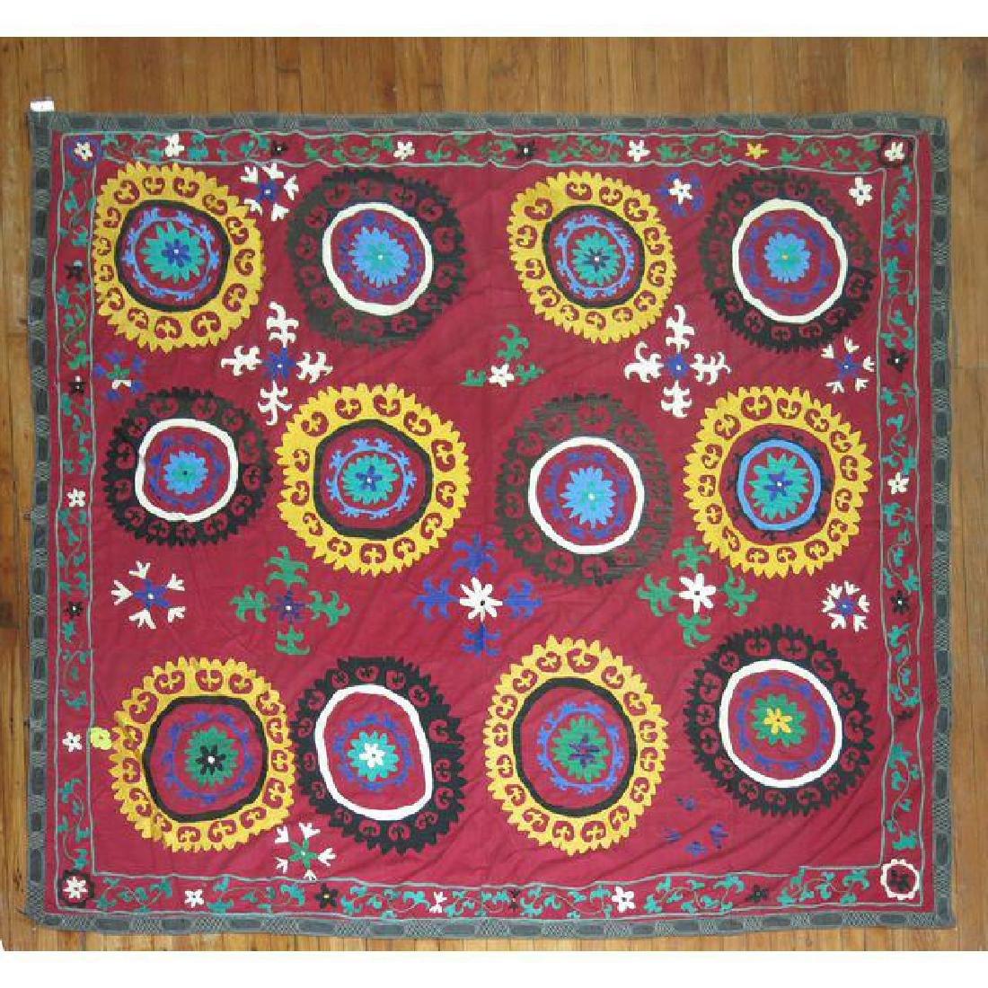 Vintage Suzanni Embroidery Throw 6.10x7.5 - 2