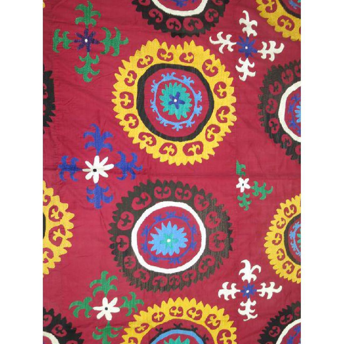 Vintage Suzanni Embroidery Throw 6.10x7.5 - 3