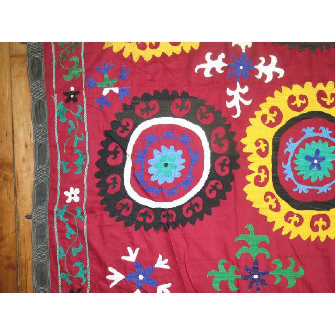 Vintage Suzanni Embroidery Throw 6.10x7.5 - 4