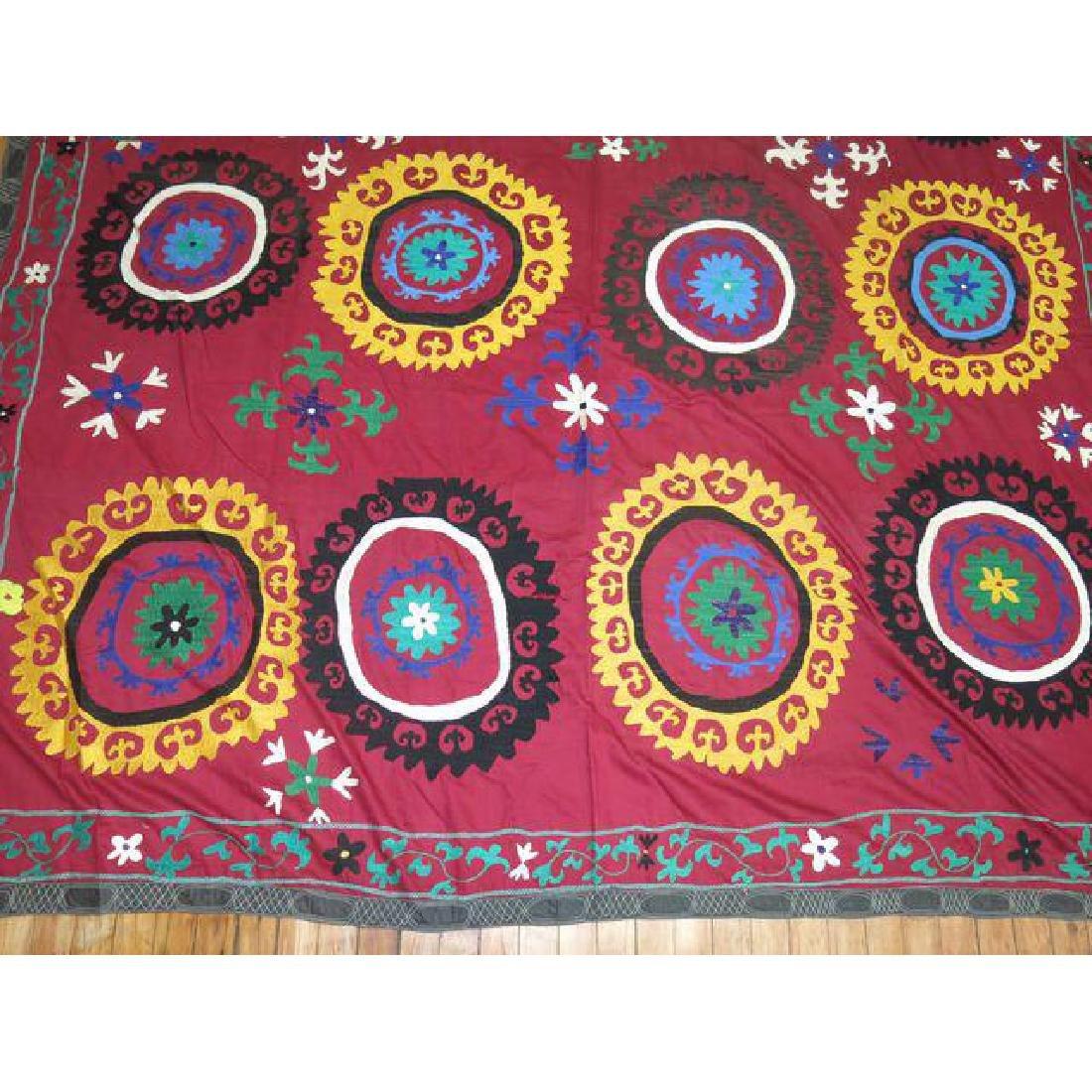 Vintage Suzanni Embroidery Throw 6.10x7.5 - 5