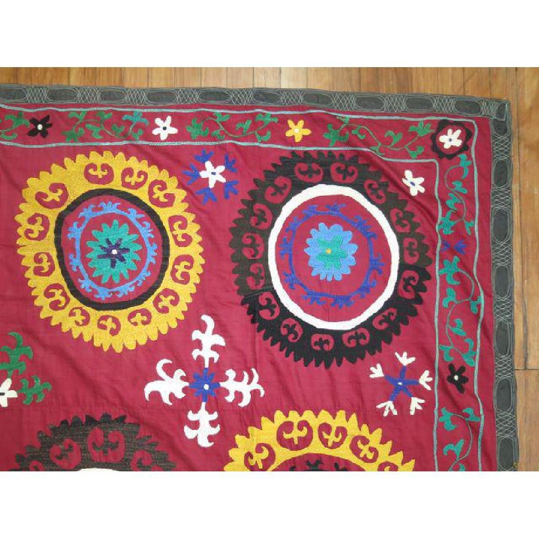 Vintage Suzanni Embroidery Throw 6.10x7.5 - 6