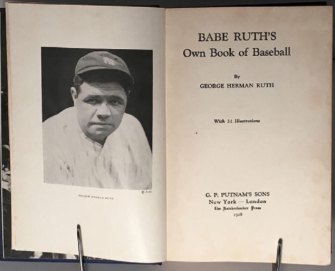 Babe Ruth's Own Book of Baseball George Herman Ruth - 4