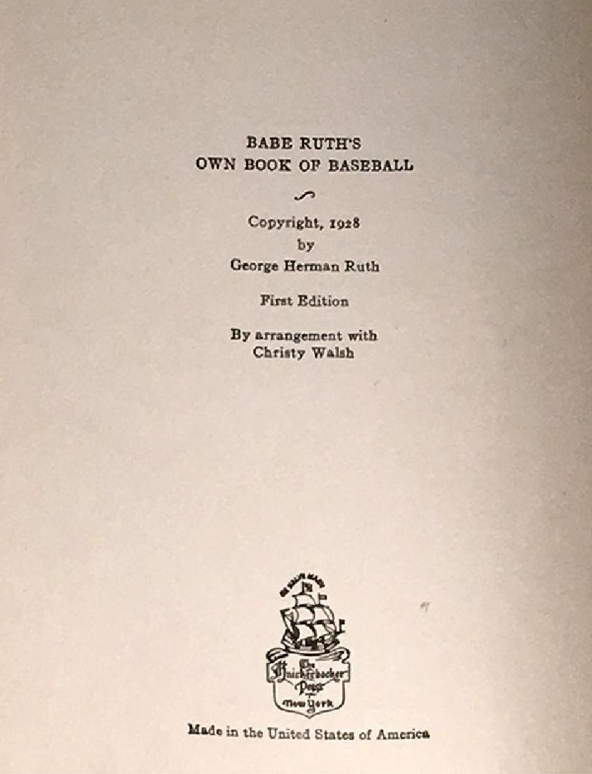 Babe Ruth's Own Book of Baseball George Herman Ruth - 5