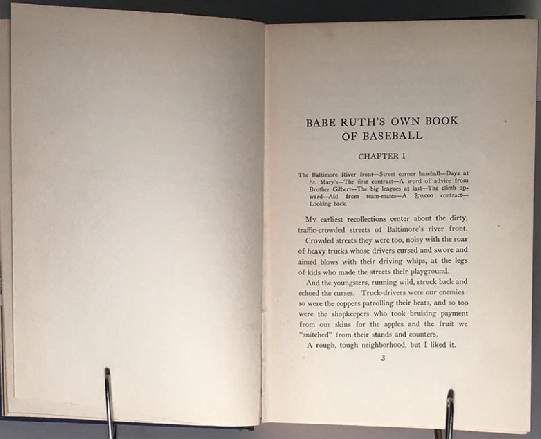 Babe Ruth's Own Book of Baseball George Herman Ruth - 6