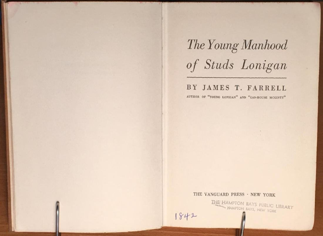 The Young Manhood of Studs Lonigan James T. Farrell' - 2