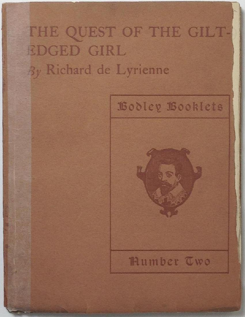 Quest of the Gilt-edged Girl Richard Le Gallienne Hodge - 2