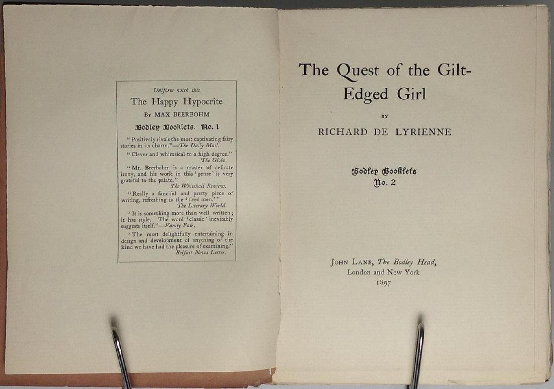 Quest of the Gilt-edged Girl Richard Le Gallienne Hodge - 3