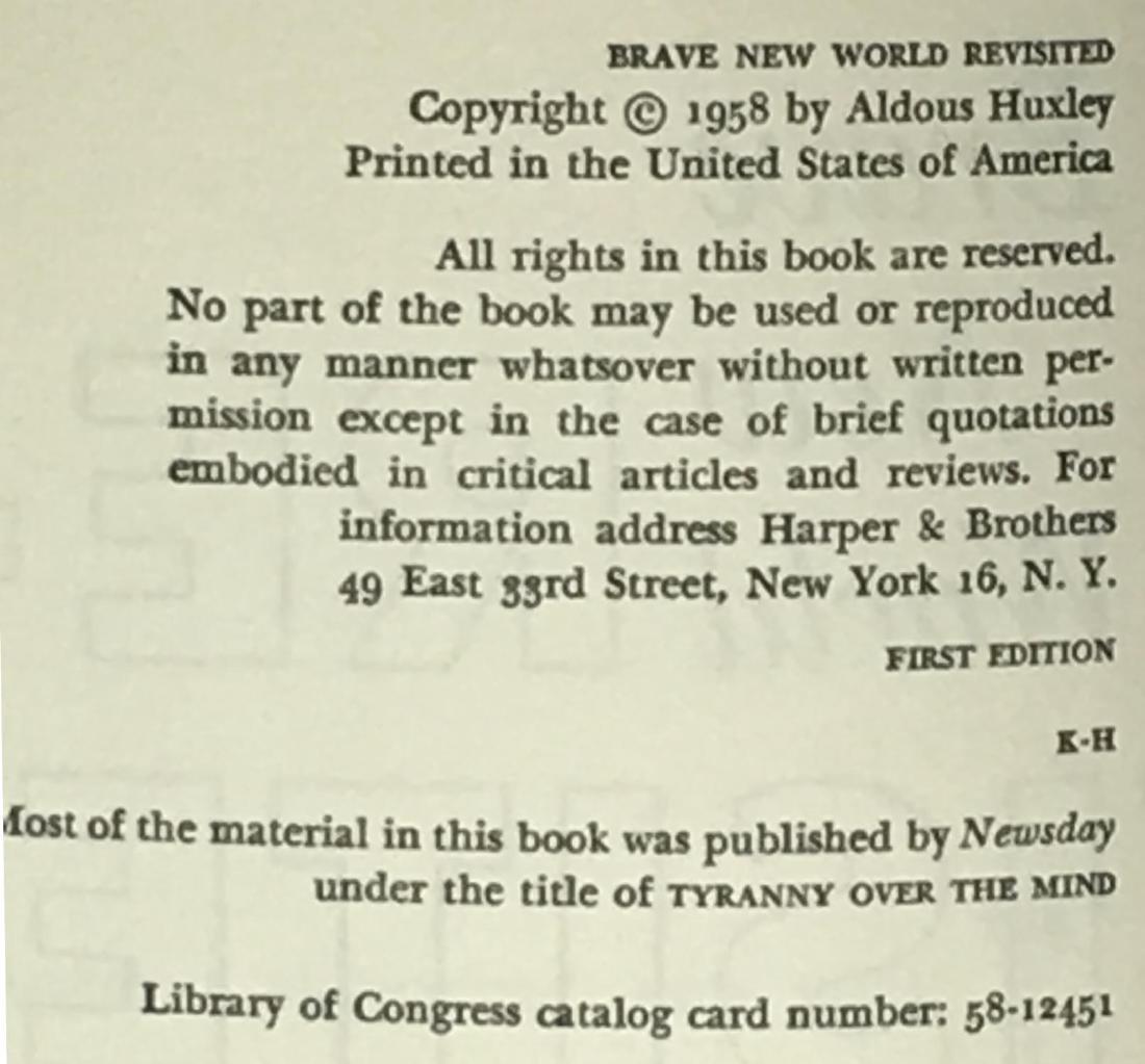 Brave New World Revisited Aldous Huxley - 4