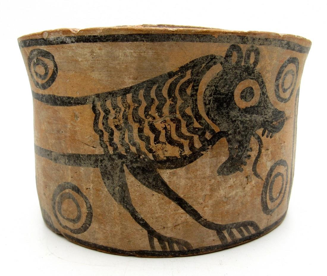 Ancient Indus Valley Jar with a Lion & Bird Motif