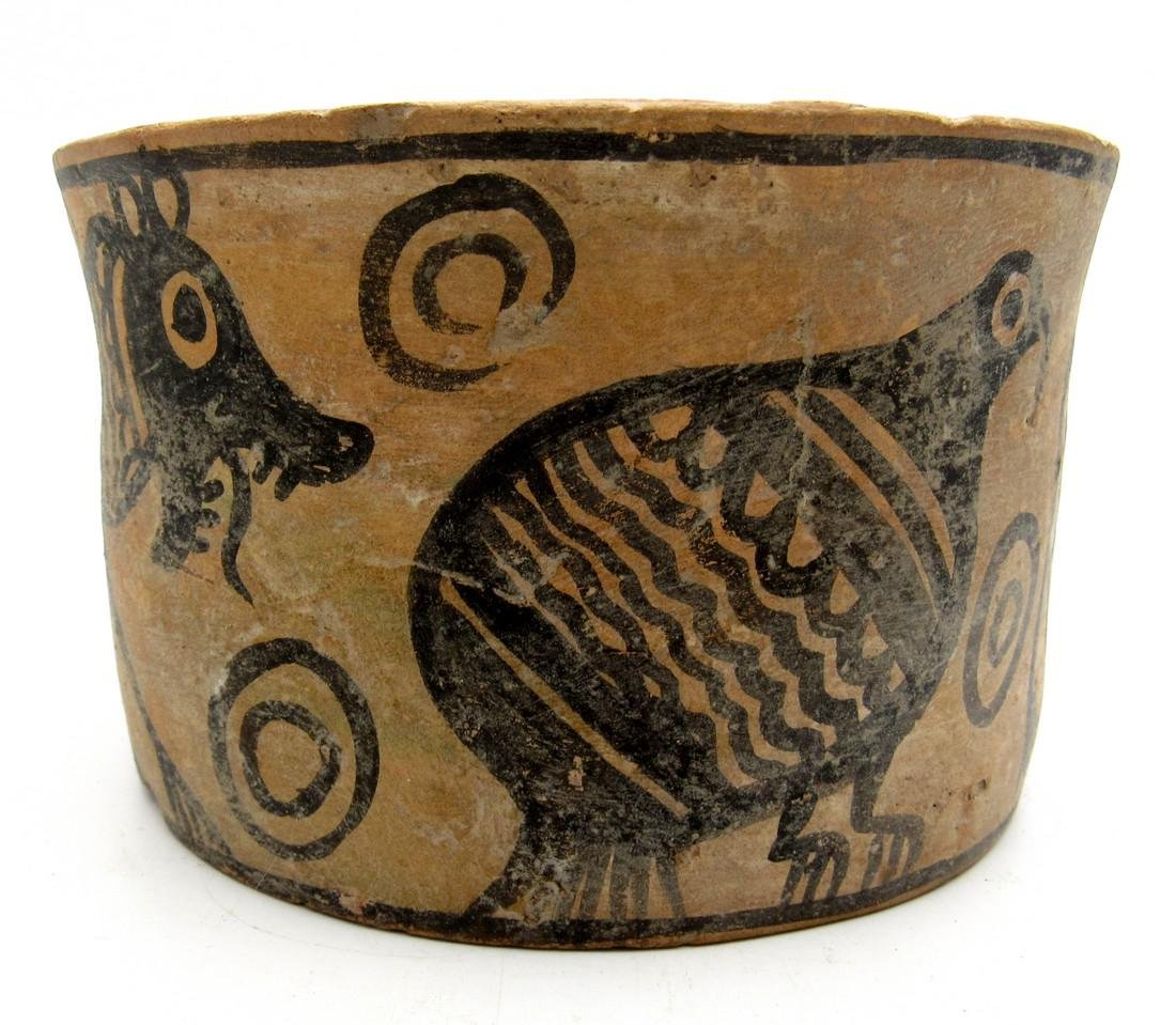 Ancient Indus Valley Jar with a Lion & Bird Motif - 2