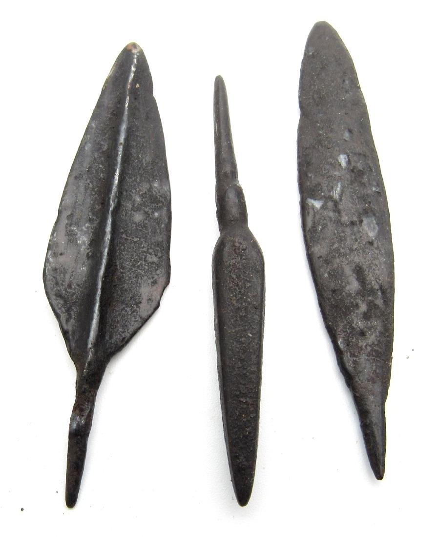 Lot of 3 Ancient Roman Iron Arrows