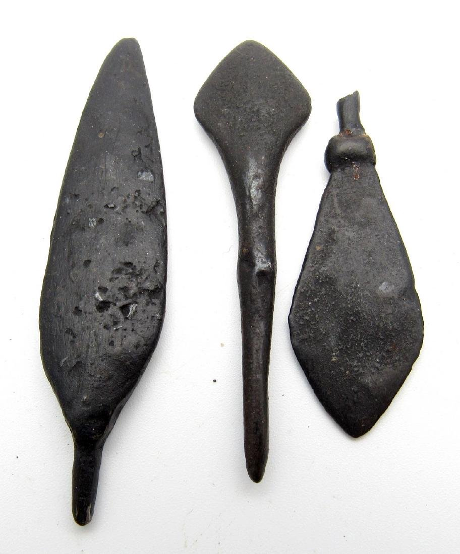 Lot of 3 Ancient Roman Iron Arrows