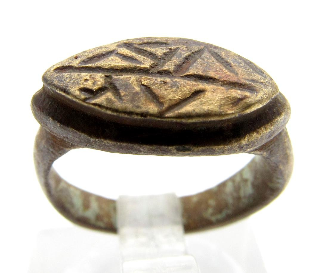 Ancient Roman Ring with Two Snakes - Doctors Ring