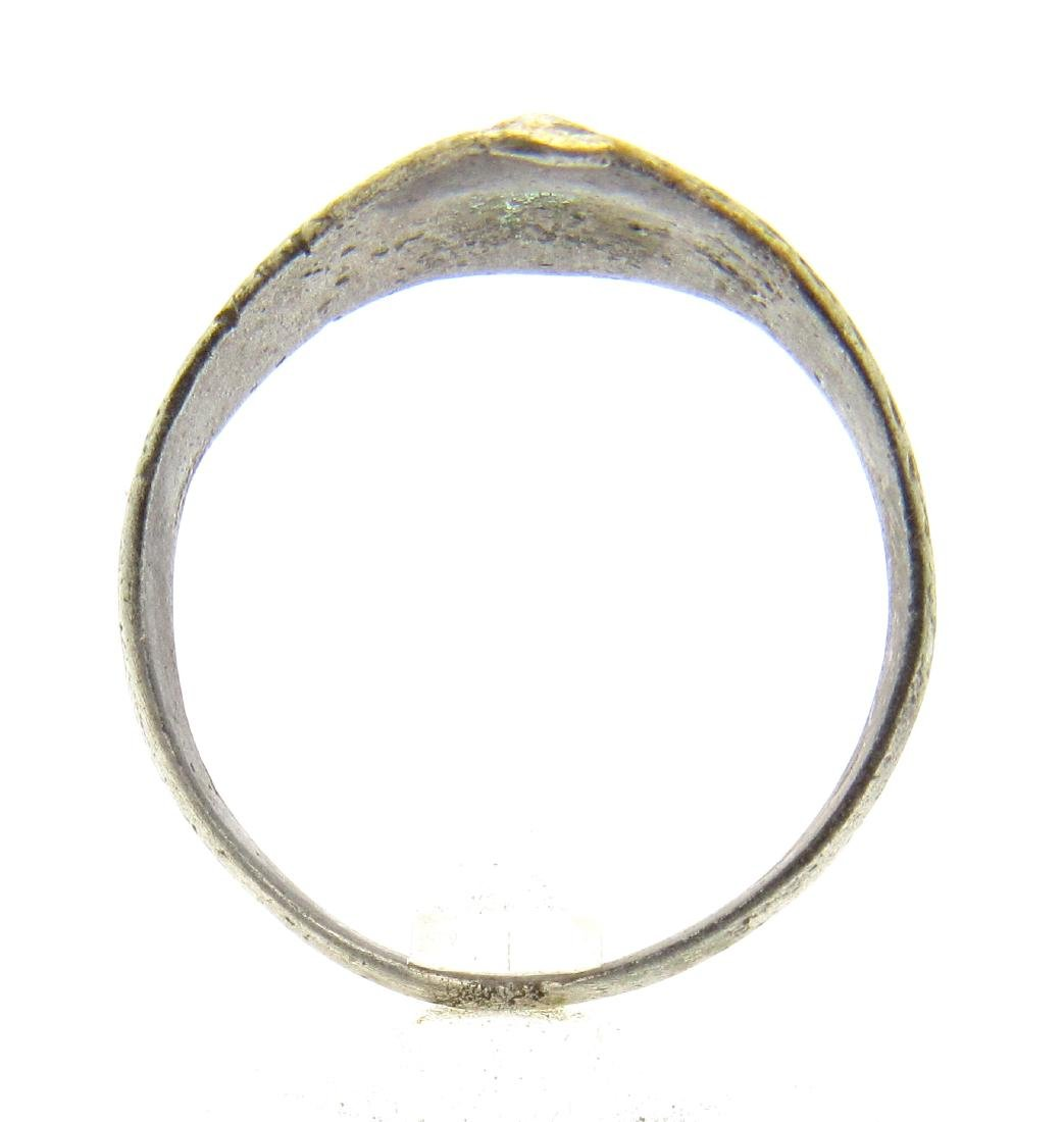 Ancient Roman Ring with Diamond Shaped Bezel - 3