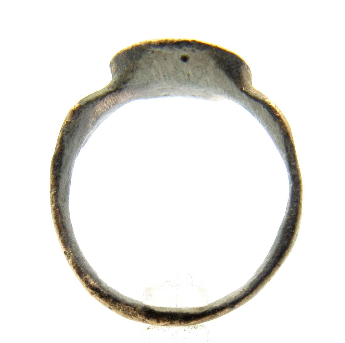 Medieval Crusaders Ring With Cross on Bezel - 3