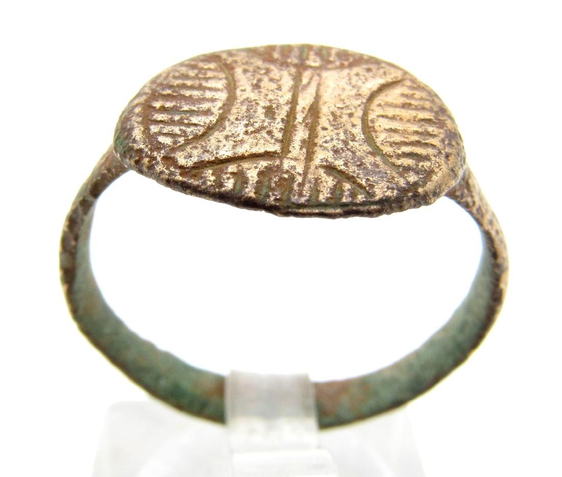 Medieval Crusaders Ring With Star of Bethlehem