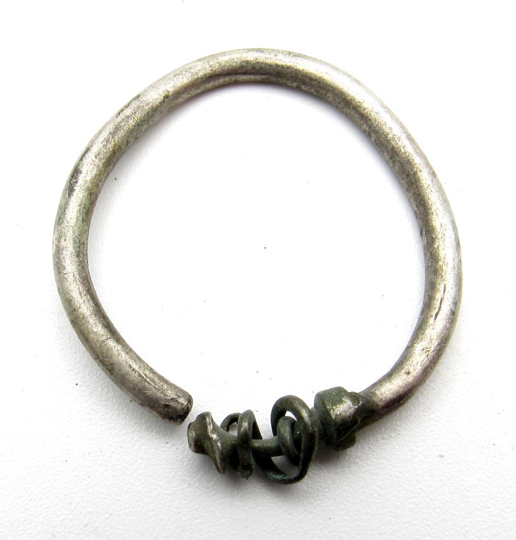 Medieval Viking Silver Earring - 2