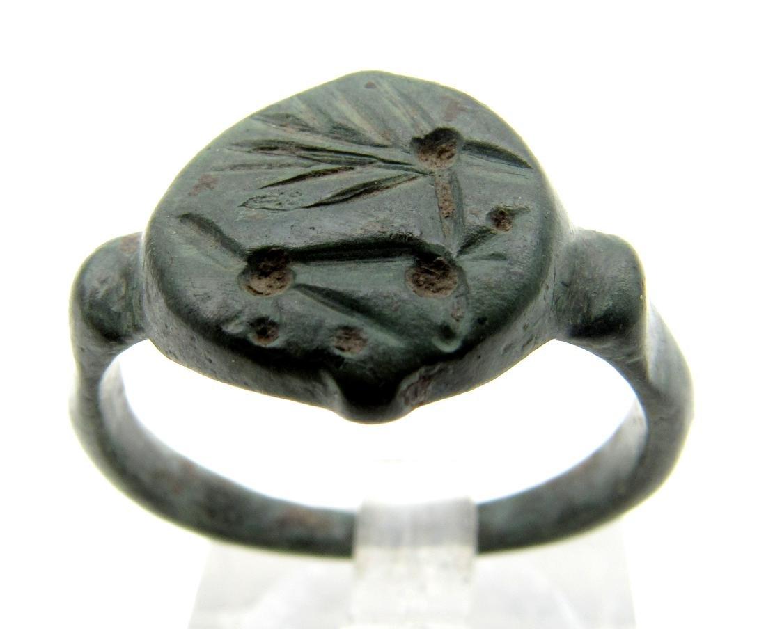 Viking Mythological Ring Depicting Creature
