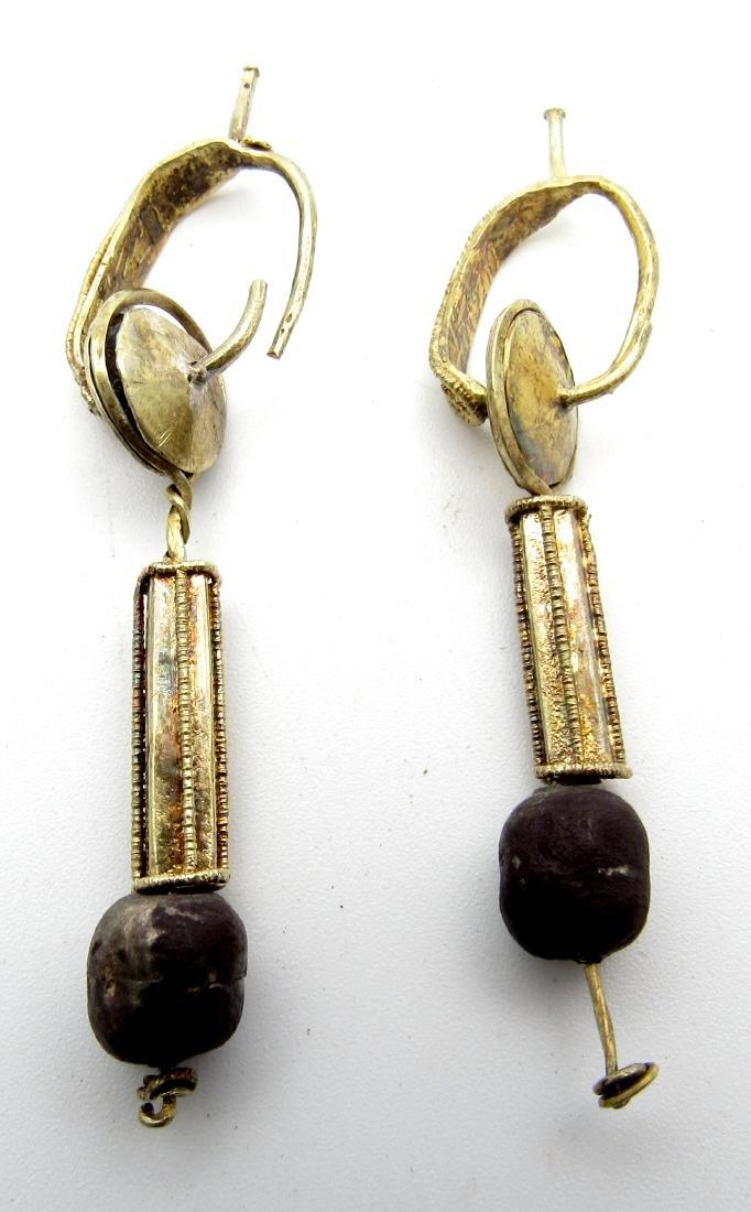 Pair of Medieval Viking Gold Earrings - 3