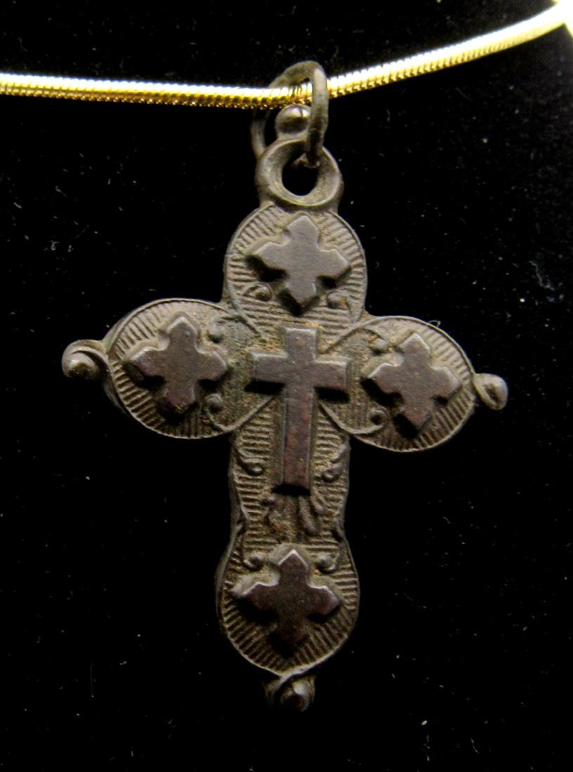 Medieval Knights Templar Holy Land Cross Pendant