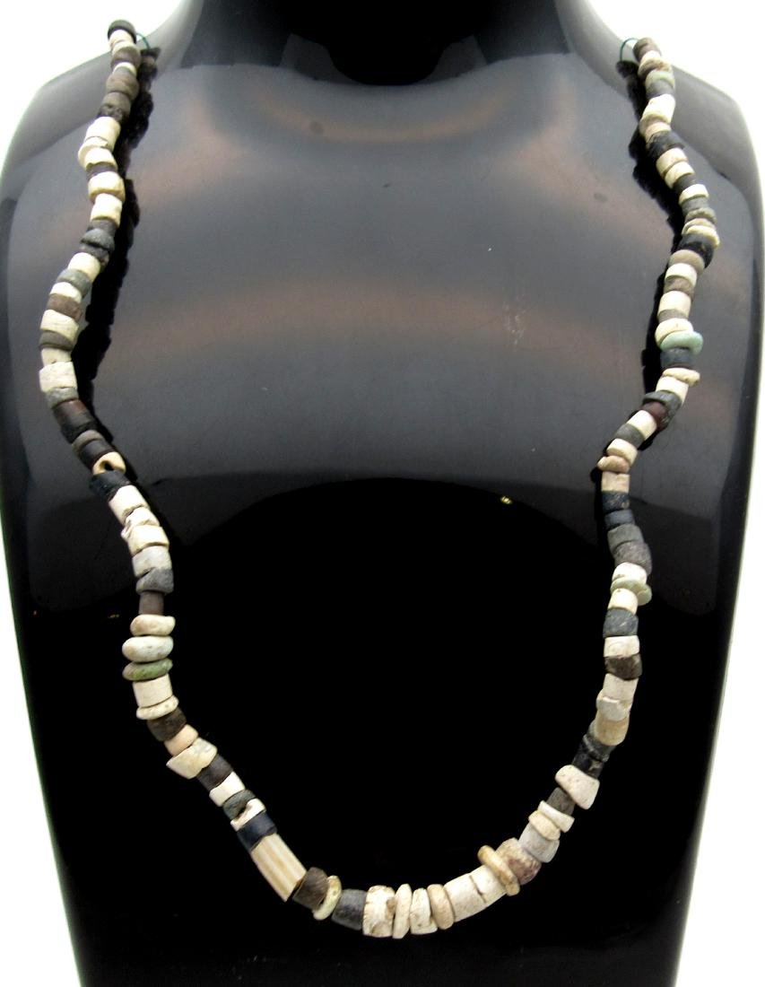 Ancient Roman Glass & Stone Necklace