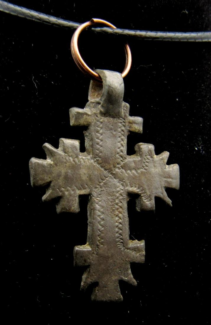 Medieval Crusaders Holy Land Cross Pendant - 2