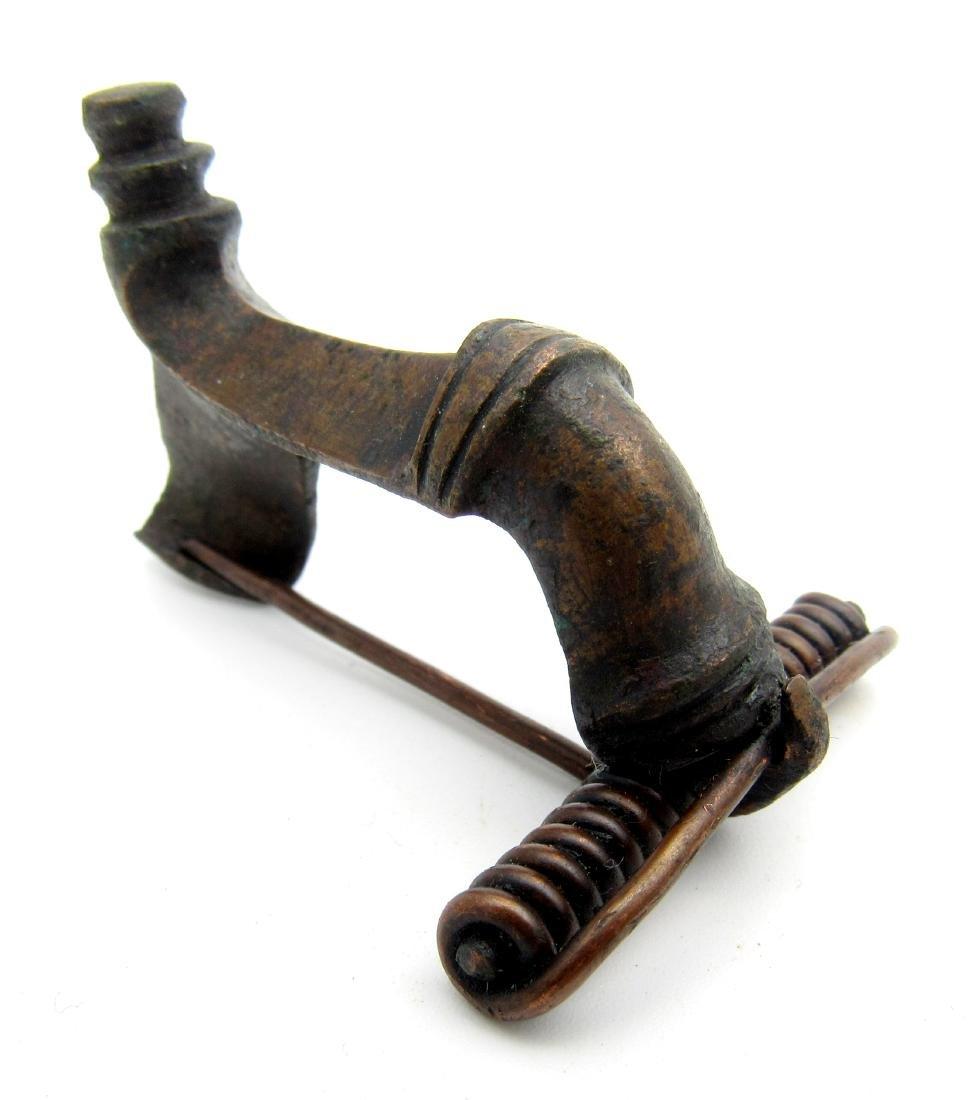 Ancient Roman Trumpet Brooch