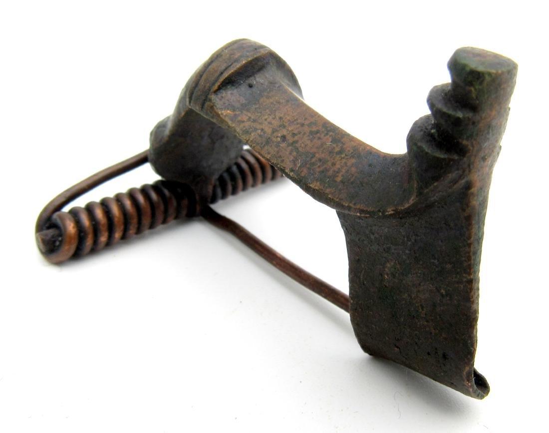 Ancient Roman Trumpet Brooch - 2
