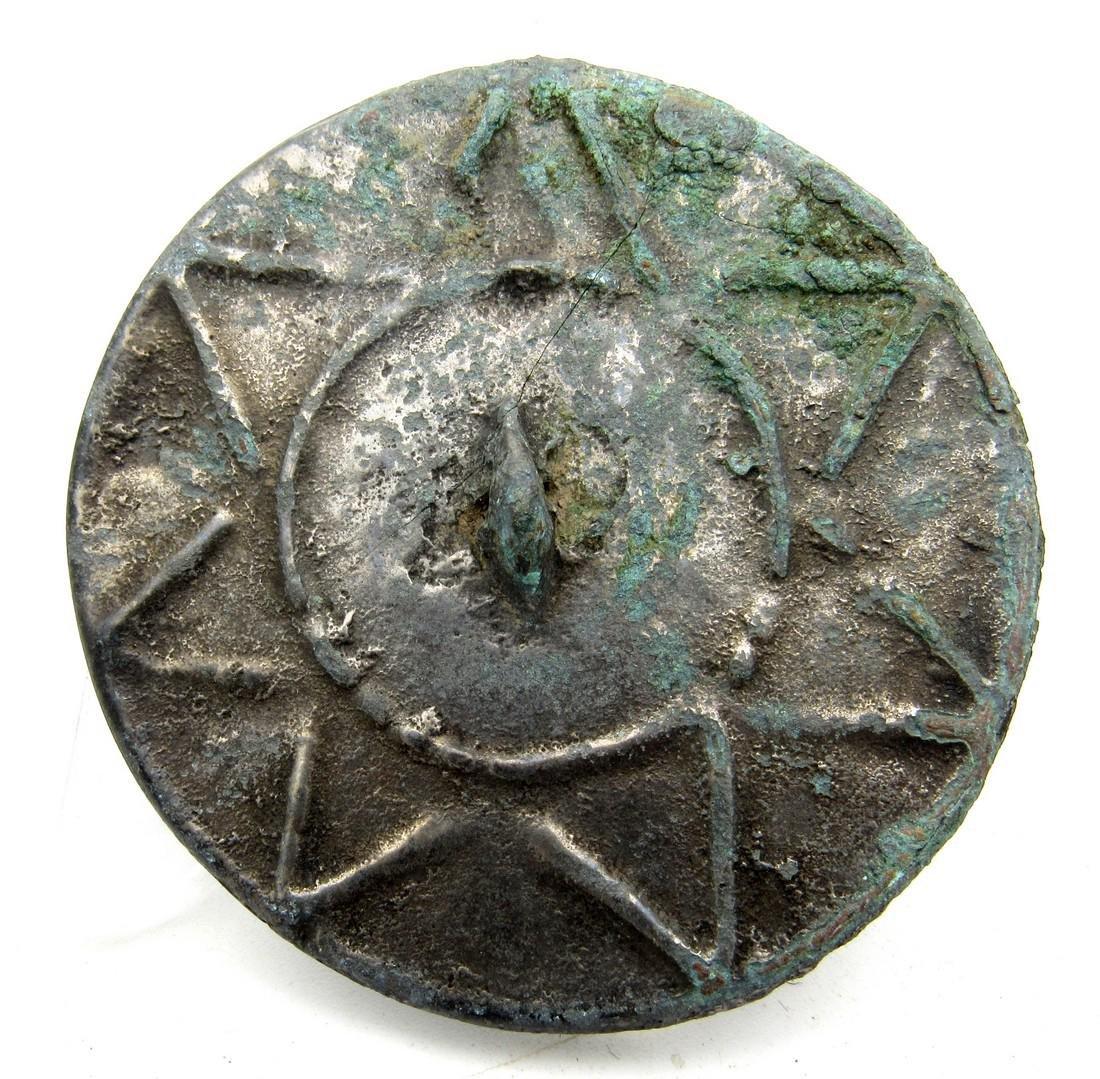 Medieval Pewter Mirror