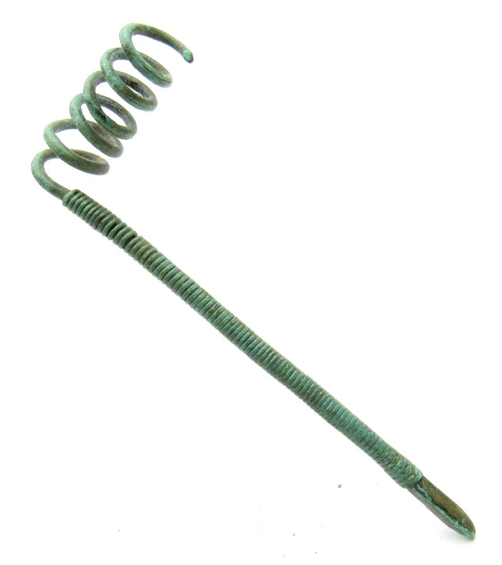 Medieval Viking Coiled Cloth Pin