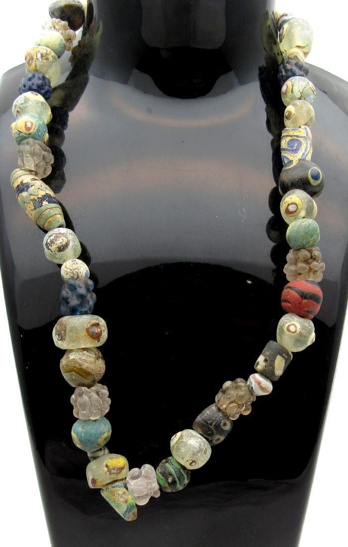 Ancient Roman Millefiori Necklace
