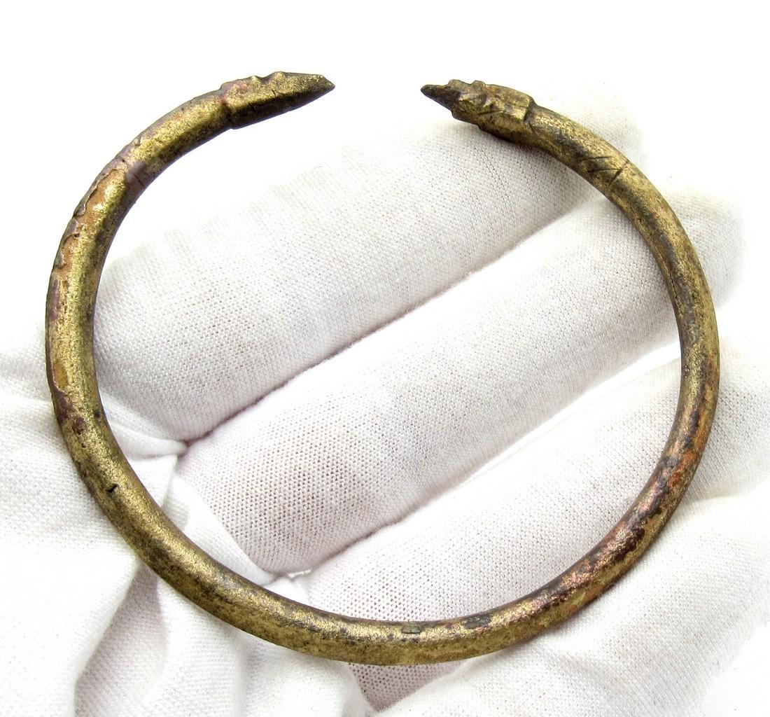 Medieval Viking Bracelet with Snake Heads - 3