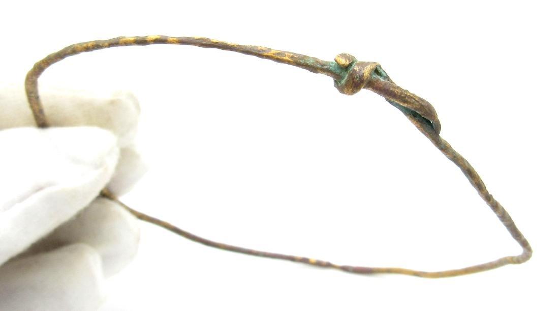 Gold-Gilded Medieval Viking Arm Ring Bracelet - 2