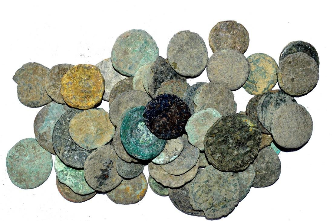 Lot of 50 Premium Quality Roman Coins for Cleaning