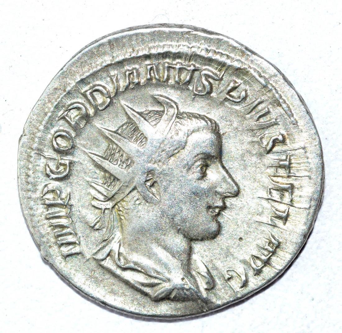 Gordian III AR Antoninianus, rv. Mars