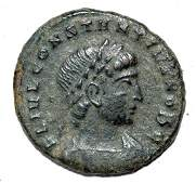 House of Constantine AE Follis rv Soldiers