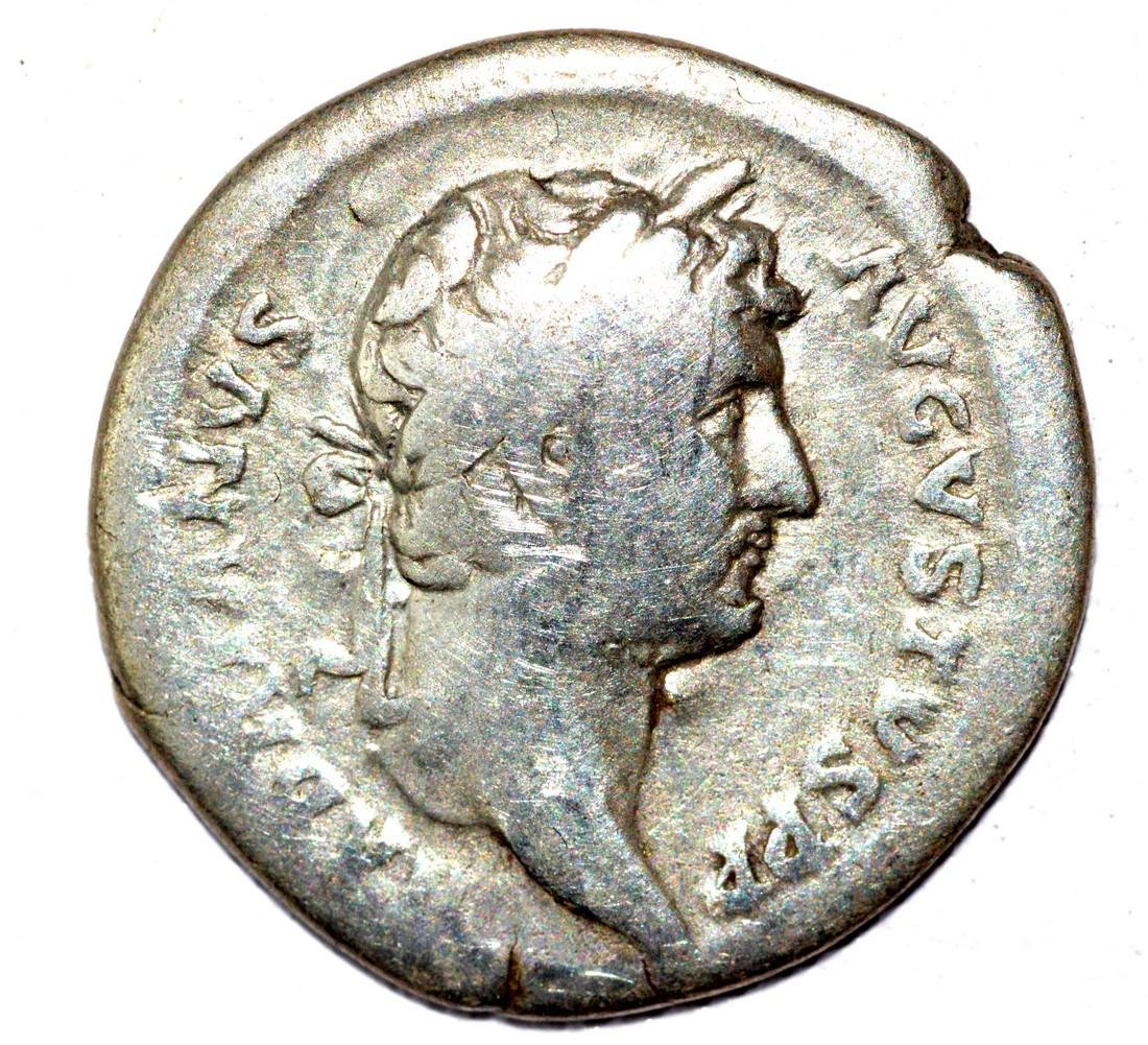 Hadrian AR Denarius, rv. Indulgentia