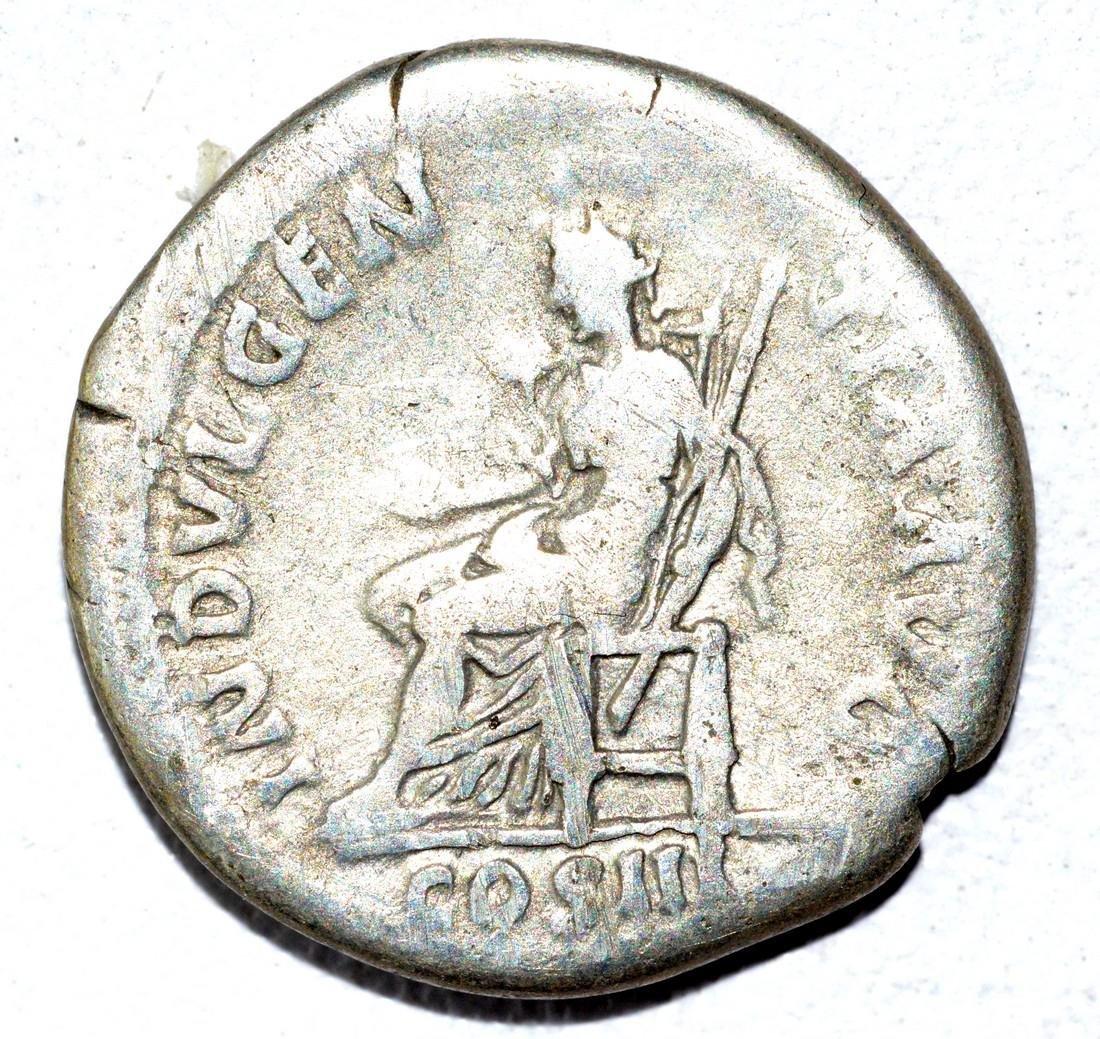 Hadrian AR Denarius, rv. Indulgentia - 2