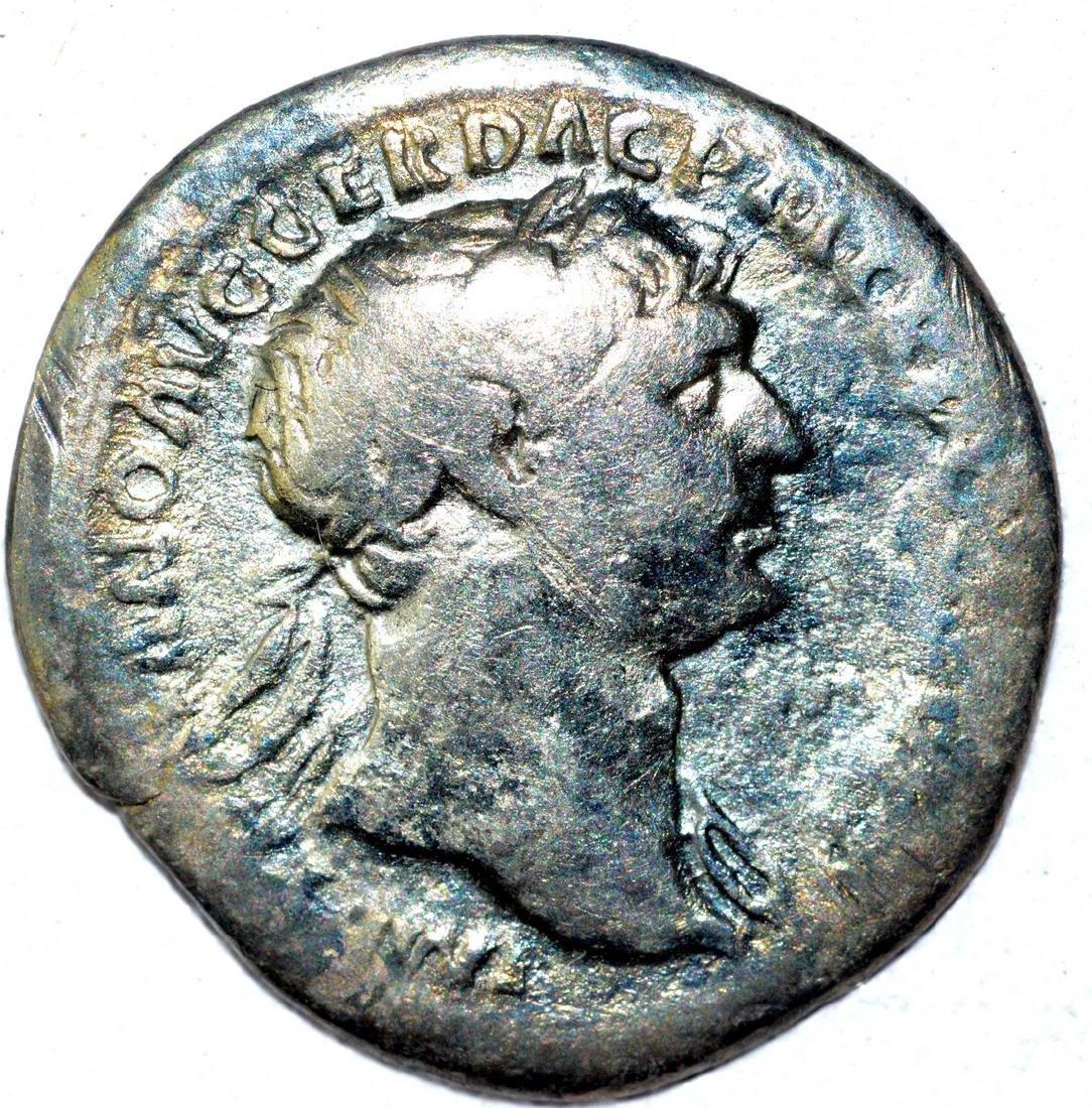 Trajan AR Denarius, rv. Fortuna