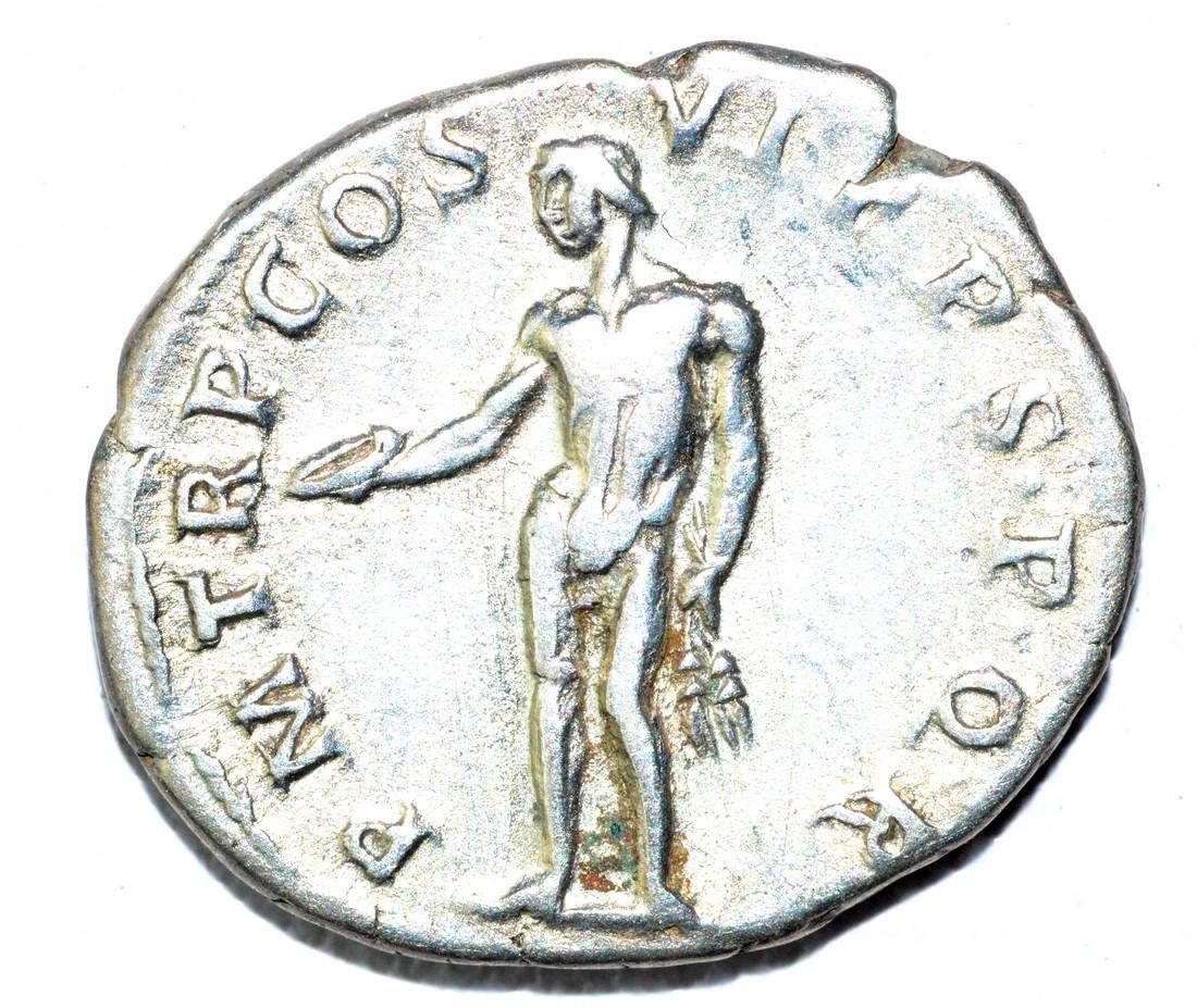 Trajan AR Denarius, rv. Genius - 2