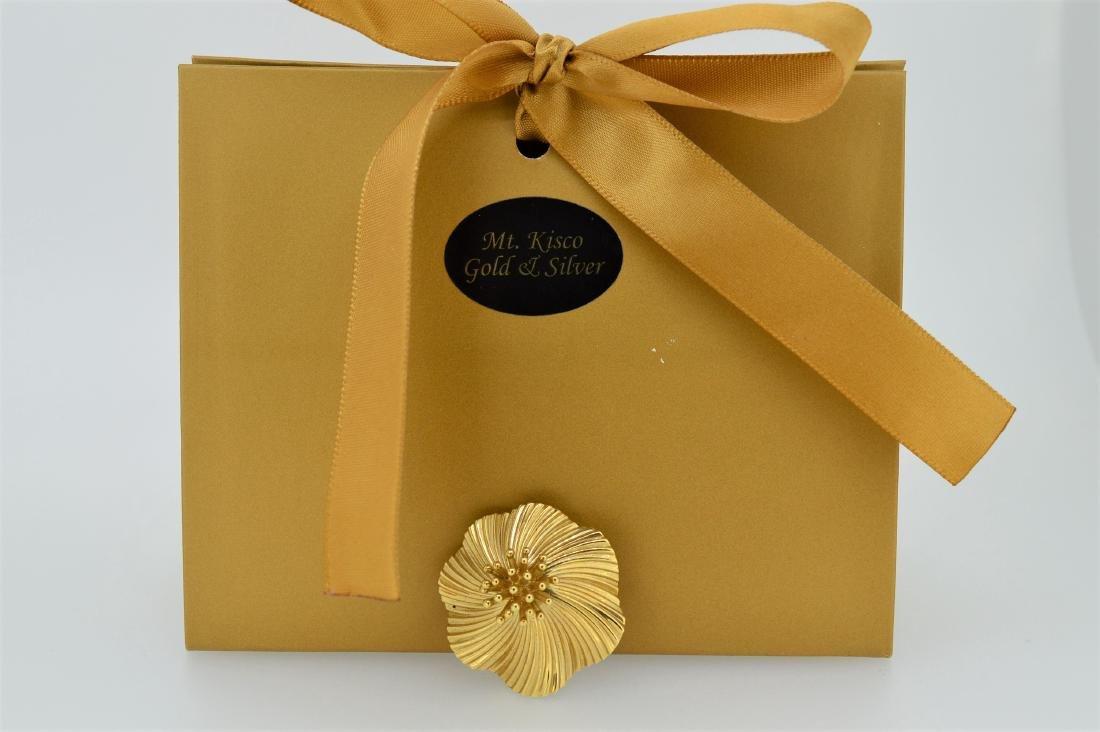Tiffany & Co Ladies 14k Yellow Gold Pin/Pendant - 3