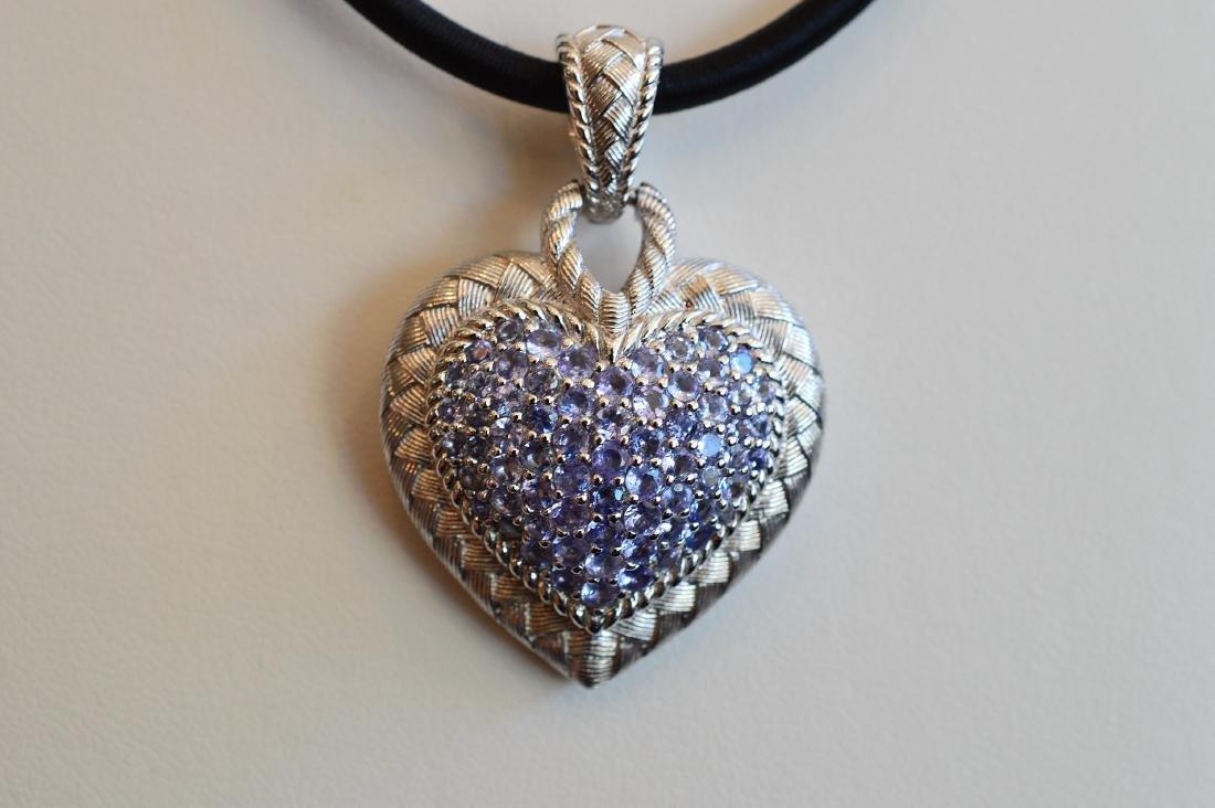 Judith Ripka Sterling Cubic Zirconia Heart Pendant