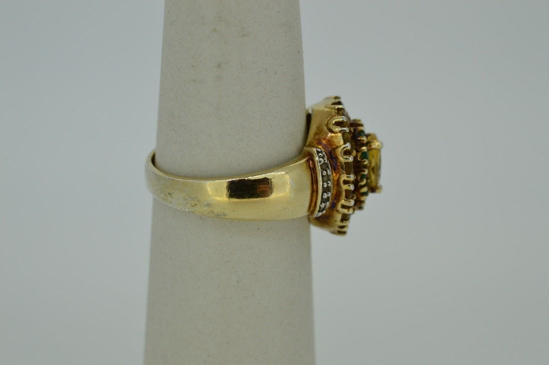 Ladies Gold Plated Sterling Silver Citrine Ring - 2