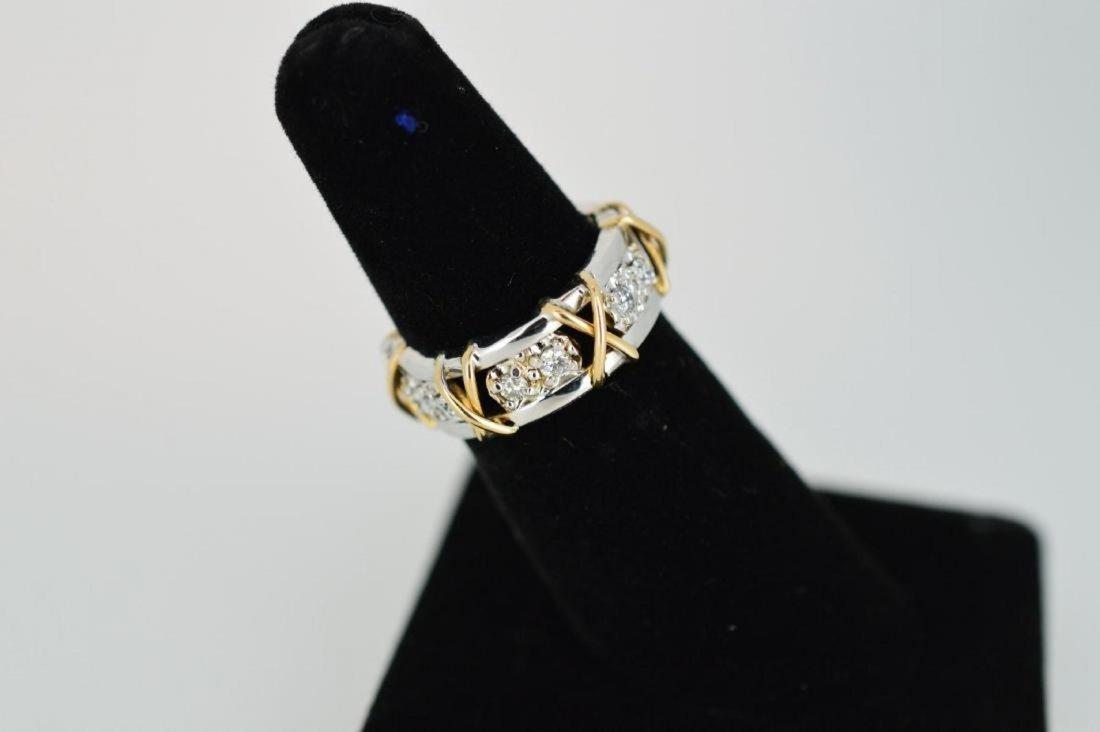 Ladies 14k Yellow/White Gold Diamond Ring, .24ctw - 2