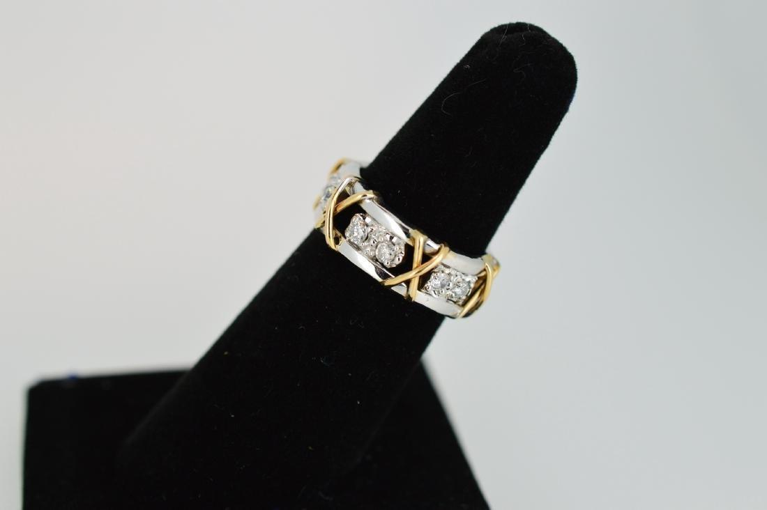 Ladies 14k Yellow/White Gold Diamond Ring, .24ctw - 3