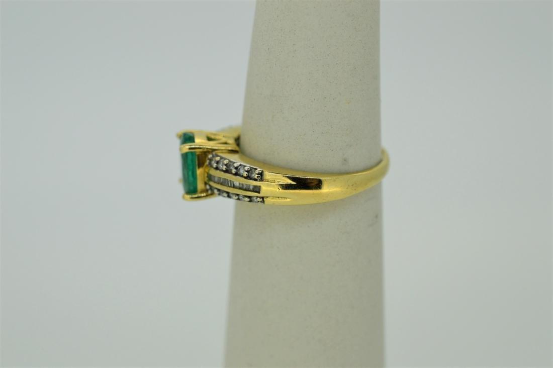 Ladies 14k White Gold Peridot Diamond Ring - 3