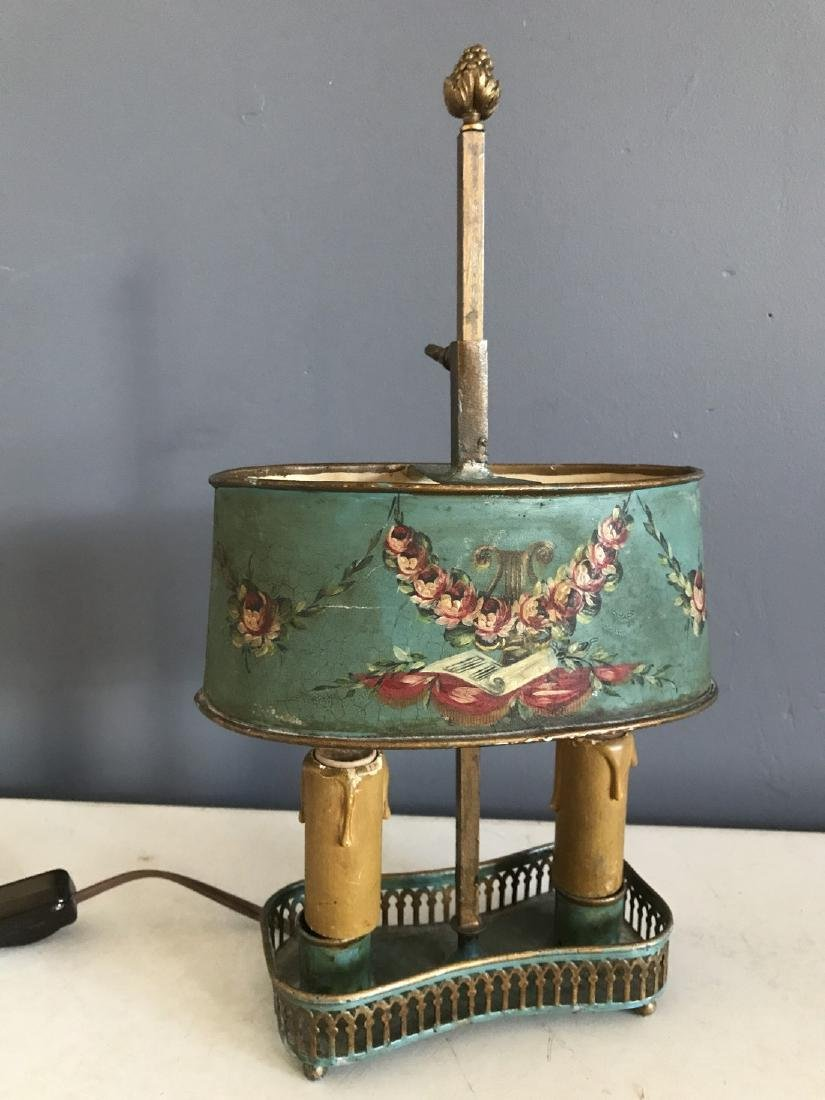 Diminutive Tole Shade Lamp