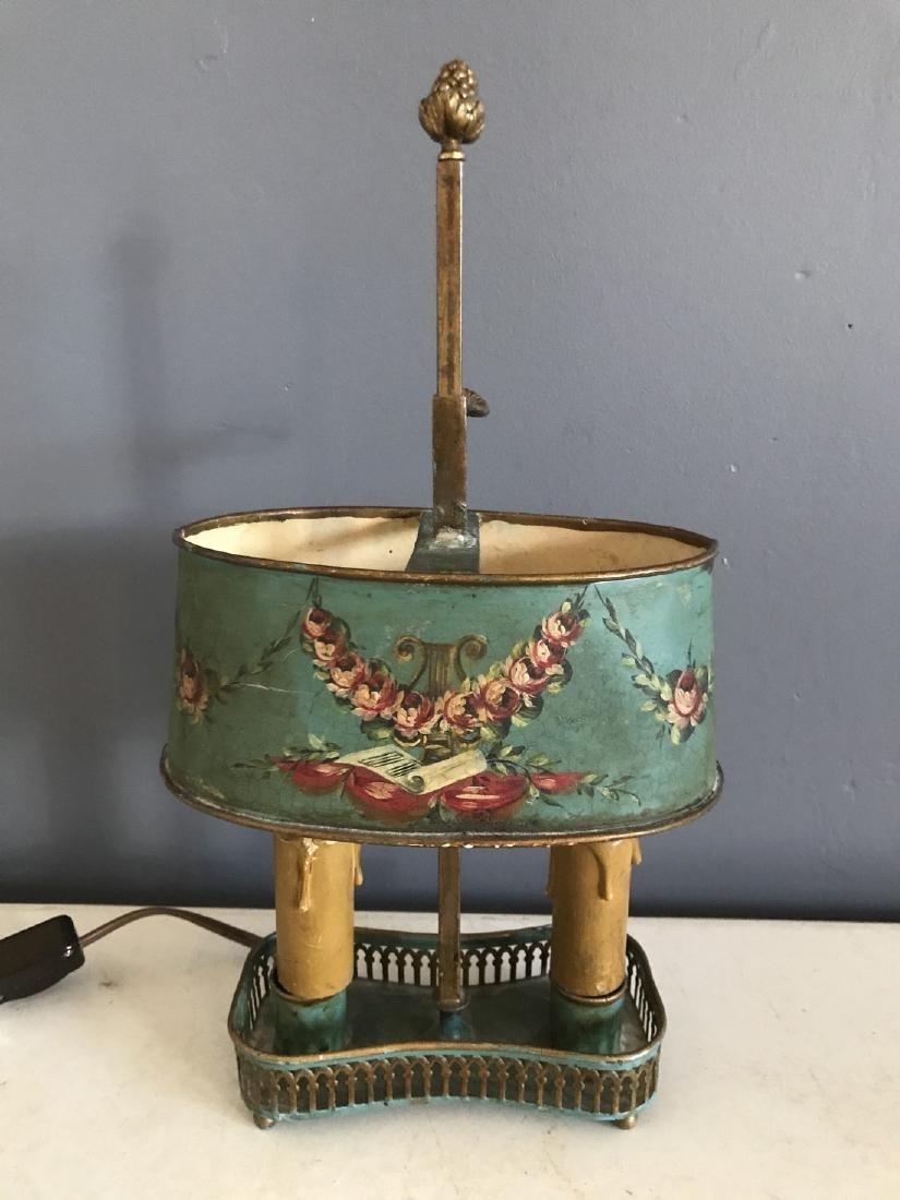 Diminutive Tole Shade Lamp - 2