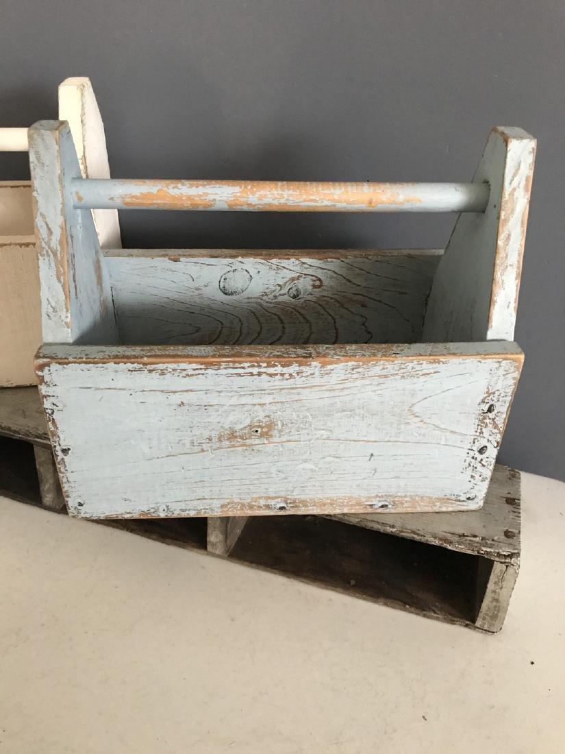 Blue Tool Box, White Tool Box, & Tool Box Shelf - 2